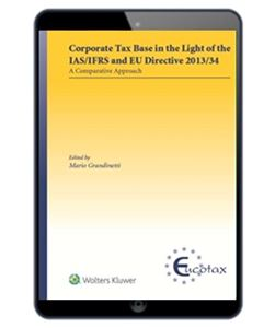 Imagens de Corporate Tax Base in the Light of IAS/IFRS and EU Directive 2013/34
